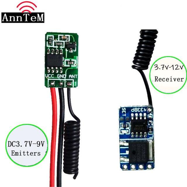 433MHZ Mini Remote Control Switch Micro Receiver Transmitter Module DC4V 12V Remote DC3.5v 12v Receiver3.7V 4.5V 5V6V9V RXTX