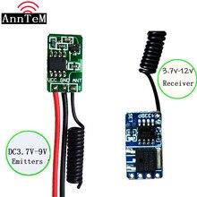 433MHZ Mini commutateur de télécommande Micro récepteur émetteur Module DC4V 12V à distance DC3.5v 12 v récepteur 3.7v 4.5V 5V6V9V RXTX