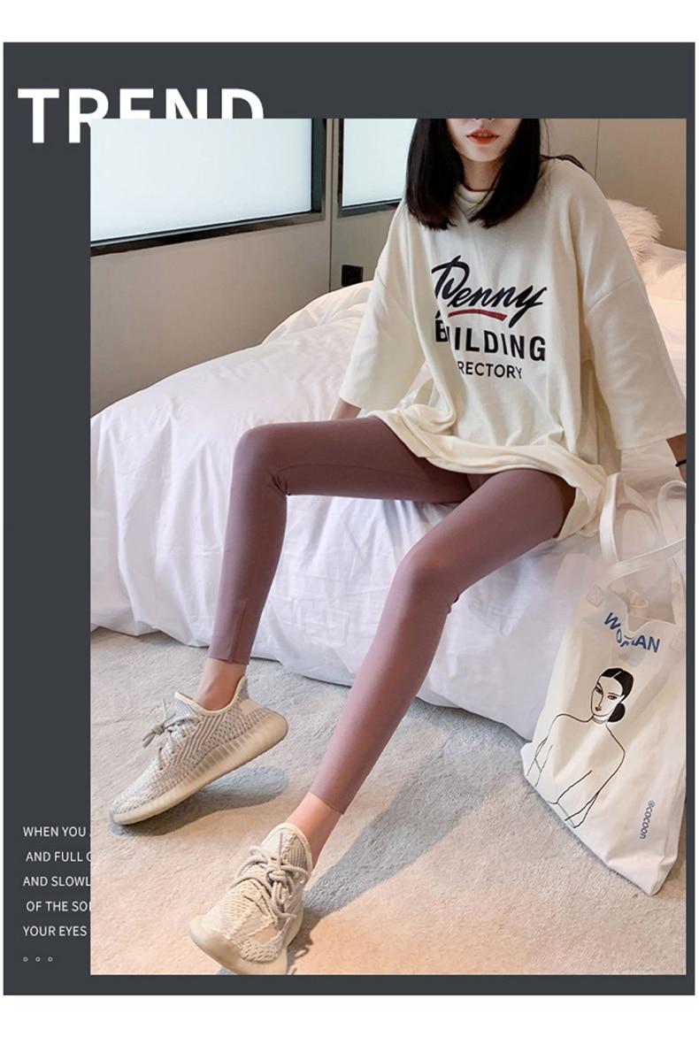 H8fba7cd988e9432b9babd8994dfd680e3 BIVIGAOS New 3-Color Sharkskin Leggings Women Spring Summer Thin Skinny Legs Fitness Leggings Pressure Elastic Sport Leggings