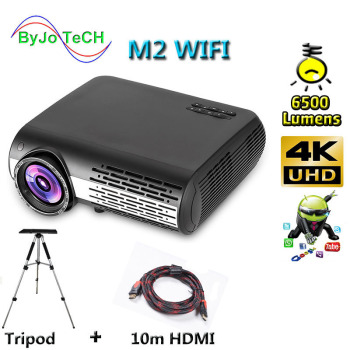 Poner Saund M2 WIFI 6500 Lumens full hd projector  Android 6.0 Bluetooth  proyector led beamer home theater projecteur video buianuwod g08 home theater projector 480p 720p led 150 full hd 1080p wifi android bluetooth proyector support ac3 dolby sound
