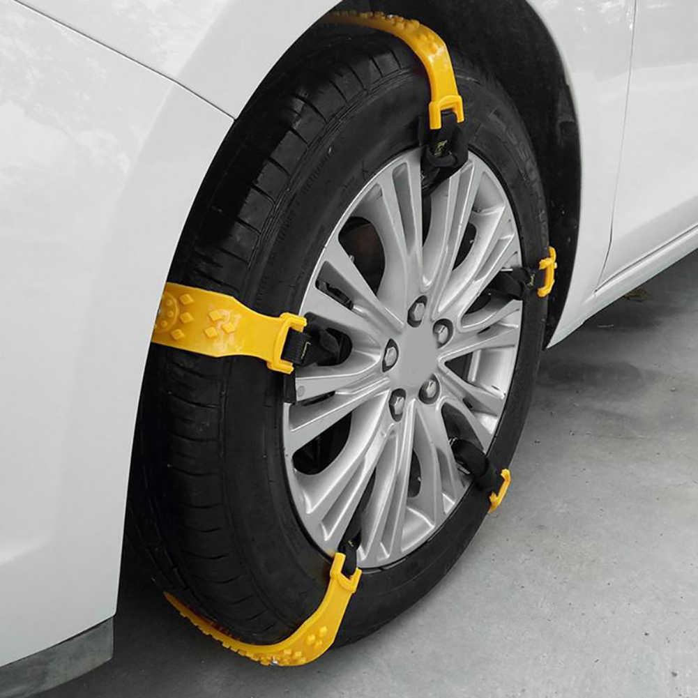 العالمي الشتاء المضادة للانزلاق سيارة إطار العجلات الإطارات الثلوج الطين الرمال حزام على شكل سلسلة