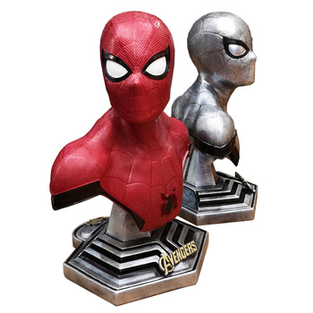 WZP PONG 36CM Avengers Spiderman Figurine Spider Man Dolls Toys Resin Statue Bust Action Figure Collectible Model Toy Gift