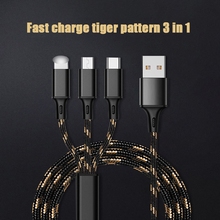 3in1 USB Cable For iPhone Samsung Xiaomi Multi Fast Charge Charger Woven Micro Data Cable Mobile Phone USB Type C Charging Cabl multi functional cell phone battery data charging dock w usb cable for blackberry z10 black