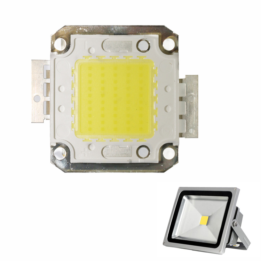 Copper Bracket LED COB Chip Beads 10W 20W 30W 50W 70W 100W Smart IC DC 12V 36V Integrated High Power LED Module For Spotlight