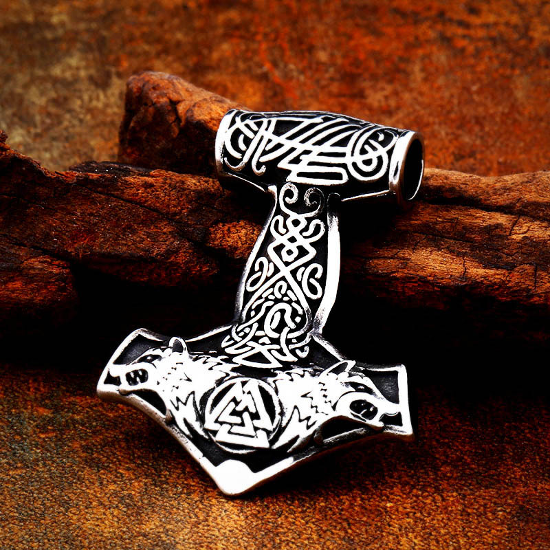 Collier acier inoxydable Viking ancre marine 4