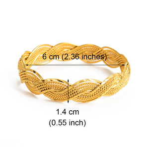 Image 3 - Anniyo 4Pieces Twisted Bracelet for Women Dubai Bangles Ethiopian Bangles African Jewelry Arab Middle East #216506