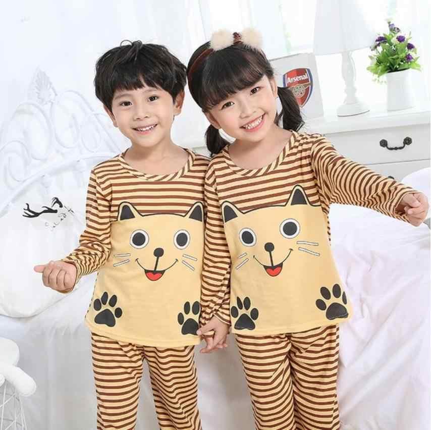 Bé Gái mới Mùa Đông Bộ Cotton Trẻ Em Quần Ngủ Nam Trẻ Em Homewear Bộ Đồ Ngủ Cho Bé Trai Pyjamas Trẻ Em Váy Ngủ 2-14Y Teen Quần Áo