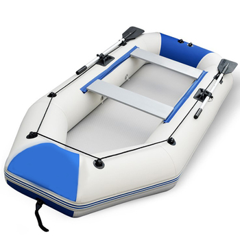140kg Payload Thicken Inflatable Boat PVC Foldable Hovercraft Inflatable Rowing Air Drifting Ship Kayak [175*96cm]