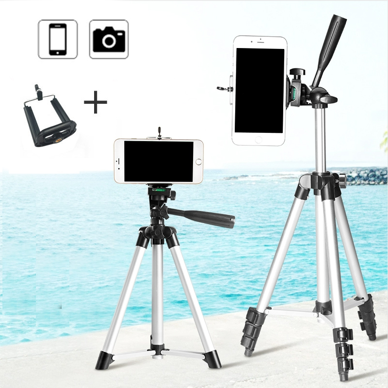 Professional Aluminum Holder Foldable Camera Tripod Holder Screw Degree Fluid Phone Stand Tripod 360 with Head Stabilizer