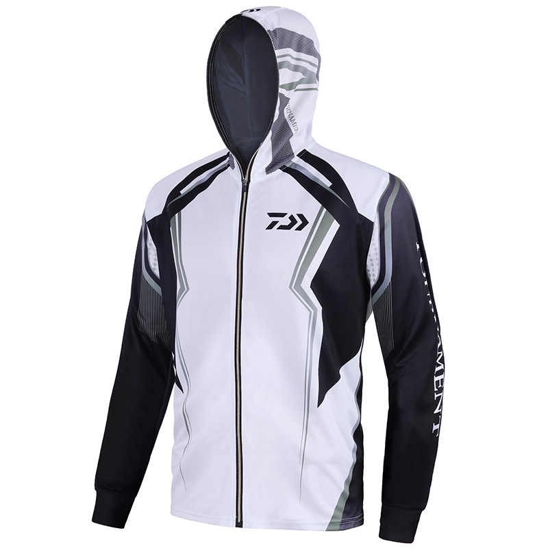 2020 Summer Outdoor Sport Shirt Clothing Men Uv Fishing Shirts Long Sleeve Breathable Quick Dry Coat Hooded Man Fishing Clothes