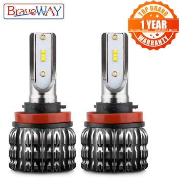 цена на BraveWAY H11 LED Car Fog Lamp H1 H3 H4 H7 HB3/9006 HB4/9006 H27 Auto Fog Lights Daytime Running Light DRL LED Bulbs Accessories