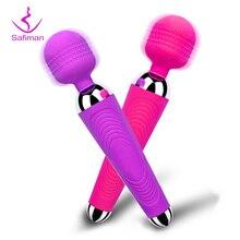 Vibromasseur sans fil, rechargeable sur USB, pour femme, sextoy, gode, stimulateur pour clitoris, type Magic Wand