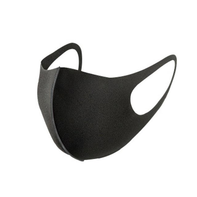 5PCS Black Kpop Mask Fashion Winter Warm Mask Breathable Washable Reusable Unisex Sponge Dust Mask 4