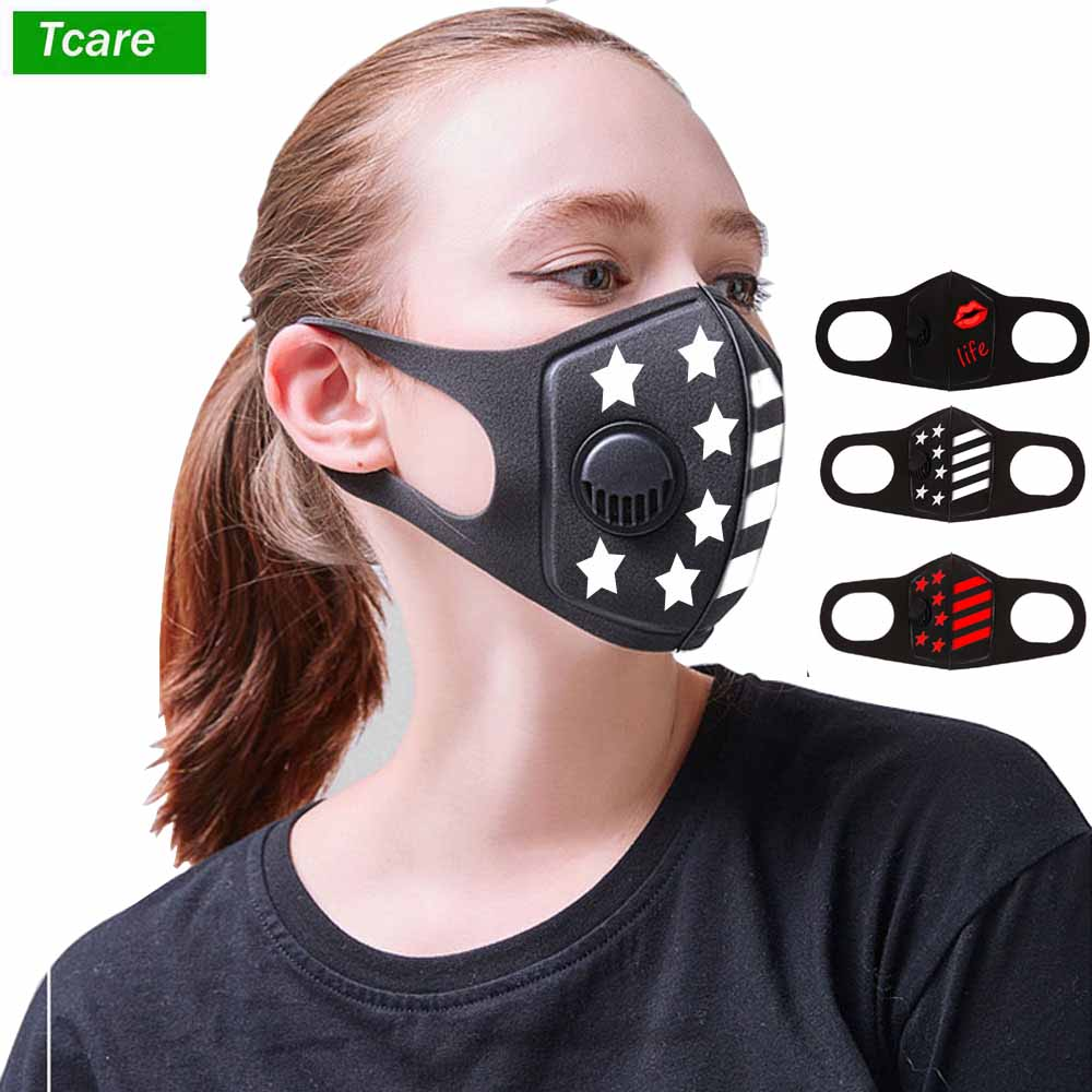 1Pcs Face Mouth Mask Anti Dust Mask Anti Pollution Mask PM2.5 Can Be Washed Reusable Breathing Mouth Masks Cover For Men Women