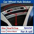 4 шт., автомобильные наклейки для Audi Quattro Sline Q3 Q7 TT A8 A6 c5 c6 A4 A3 Q5