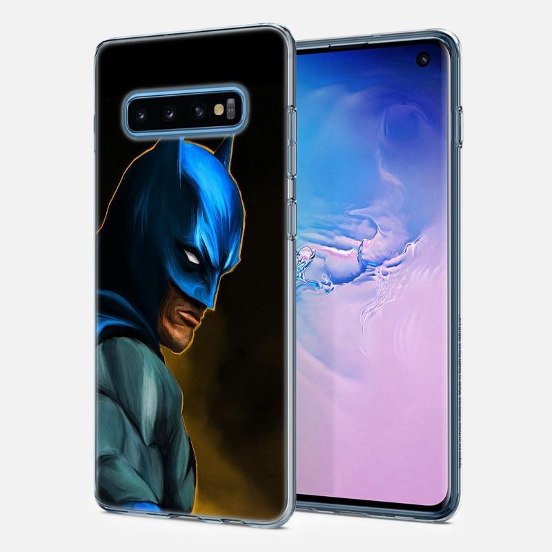 Batman Superhero Silicone Case For Samsung Galaxy S10 S10e S20 Ultra S8 S9 S10 S20 Plus S7 Note 8 9 10 Plus Cover
