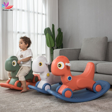 Walker Rocking-Chairs Shining Kids Trojan Horse for Toy Gift Scooter Balance-Bike Multi-Functional