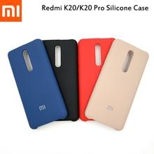Чехол для Redmi K20/K20 Pro, Оригинальный чехол из жидкого силикона для XIAOMI, мягкая на ощупь задняя крышка, чехол для телефона xiaomi Red mi9T Pro с логотипом