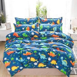 Image 4 - Solstice Home Textile Duvet Cover Pillow Case Flat Sheet Panda Cartoon Bedding Set Kid Boy Teen Girl Bed Linens Twin Full 3/4Pcs