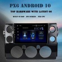 """9 """"Android 10.0 araba multimedya oynatıcı Toyota FJ Cruiser için 2007 2010 2011 2012 2015 2016 DSP 4GB + 64GB radyo GPS Navigator"""