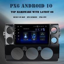 "9 ""Android Leitor Multimédia 10.0 Carro para Toyota FJ Cruiser 2007 2010 2011 2012 2015 2016 GB Rádio DSP 4GB + 64 Navegador GPS"