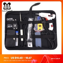 Набор инструментов для ремонта паяльника 10 в 1, профессиональный инструмент для ремонта 110 240 В 20 Вт с насадками и пинцетом и т. д.