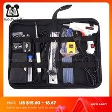Free Shipping 10 IN 1 Glue Gun Solder Iron Set DIY Repair Tool Professional 110 240V 20W With Sticks Tweezer Iron Tips Etc.