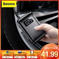 Baseus-compresor de aire portátil, inflador de neumáticos inalámbrico, bomba eléctrica Digital automática para coches, motocicletas y neumáticos
