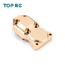 Couvercle de contrepoids en laiton Durable pour pièces de voiture 1/24 Axial SCX24 90081 RC