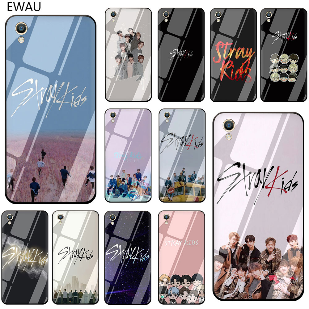 EWAU Stray Kids kpop Tempered Glass <font><b>Phone</b></font> Cover Case For <font><b>OPPO</b></font> A7 A5s AX7 AX5s A37 A77 A7X F3 F5 F7 F9 <font><b>F11</b></font> <font><b>Pro</b></font> image