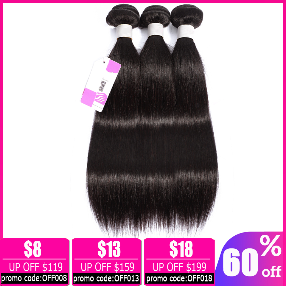 Lanqi Straight Hair Bundle Deals 100% Human Hair 3 Bundles Or 1 Pc Non-remy Hair Extensions Brazilian Hair Weave Bundles