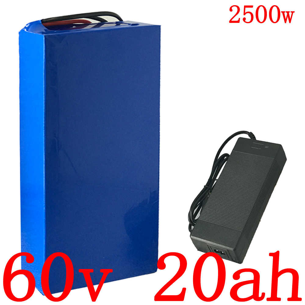 60V 1500W 20000W 2500W Lithium ion battery pack 60v 20ah electric bicycle battery 60V 20AH scooter battery+5A charger free duty