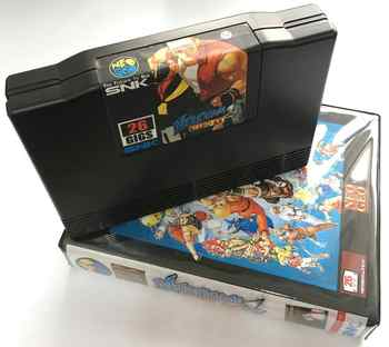 NEW NEOGEO AES 161 in 1 Version 2 Game Cartridge and ShockBox for SNK NEO GEO Console