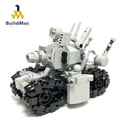 Buildmoc Weapons WW2 Military Tank Soldiers Figures Metal Slug Super Vehicle 001 Building Blocks Bricks Army Weapons Toy For Boy