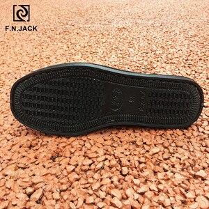 Image 5 - F。 n。ジャック男性のキャンバススマートカジュアルファッション靴ゴム底 vip リンク scarpe ウォモ男性ゴム靴 sapato masculino