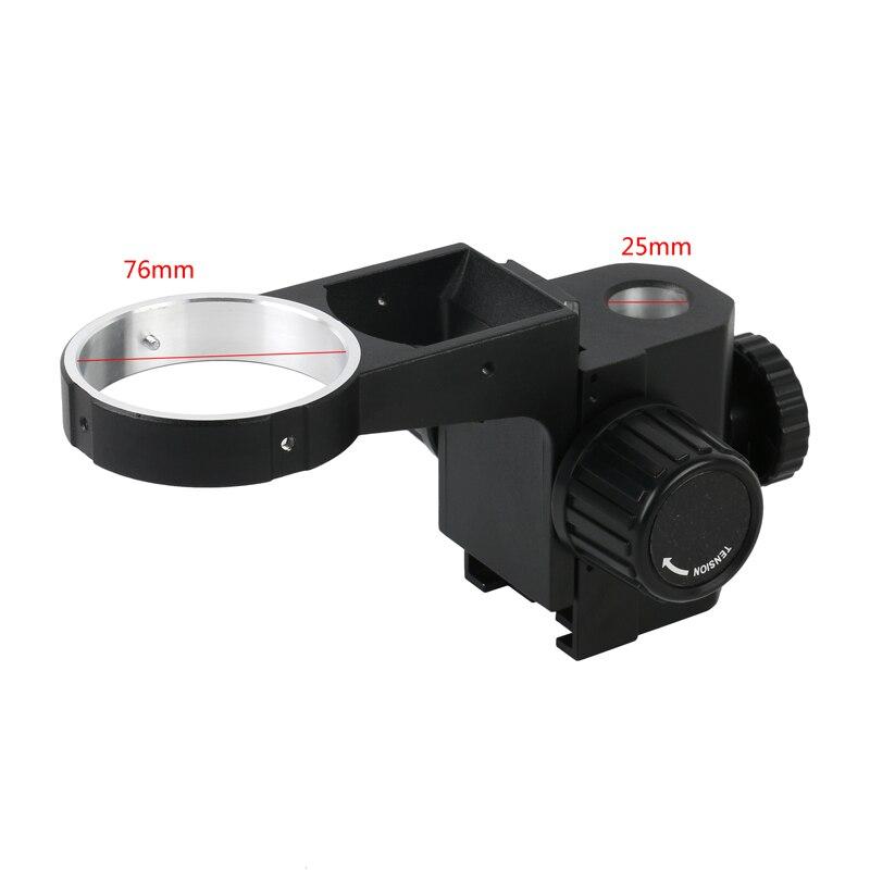 76 มม.ซูมสเตอริโอกล้องจุลทรรศน์ปรับโฟกัสวงเล็บโฟกัสสำหรับ Tinocular กล้องจุลทรรศน์กล้องจุลทรรศน...