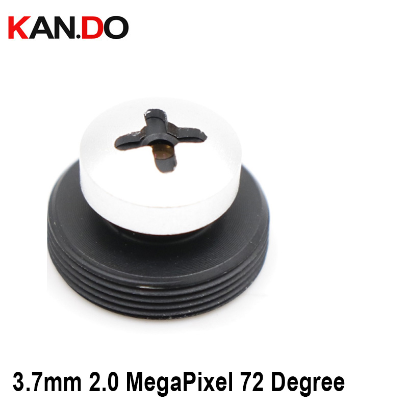 Screw Shape CCTV Camera 3.7mm Lens 2.0 MegaPixel Wide-angle 72 Degree MTV M12 X 0.5 Mount Button Lens For CCTV Security Camera