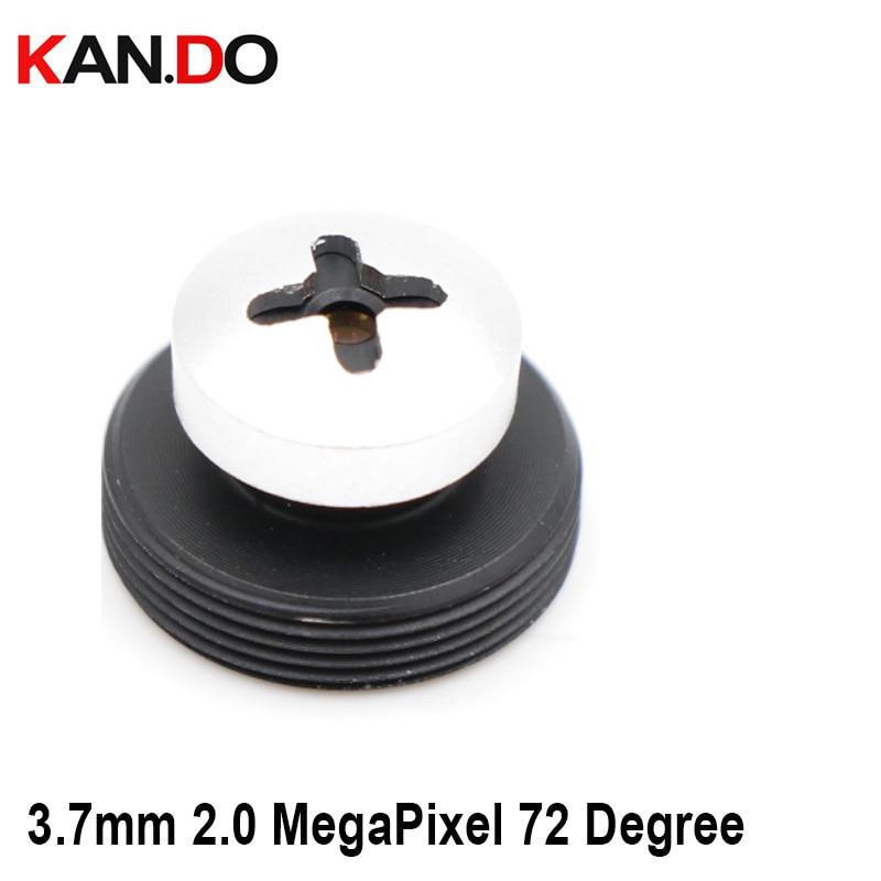 Screw Shape CCTV Camera 3.7mm Lens 2.0 MegaPixel Wide-angle 72 Degree MTV M12 X 0.5 Mount Button Lens For CCTV Security Camera