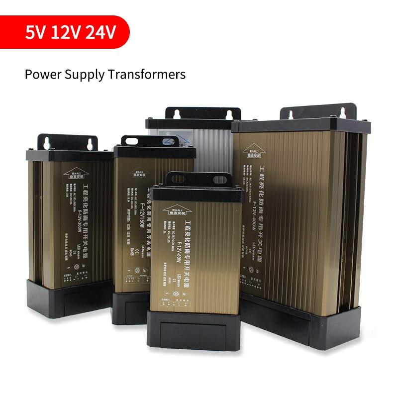 5V 12V 24 V Power Versorgung Transformatoren 12 24 V Volt Power Versorgung Transformatoren Led-treiber 5V 12V 24 V Netzteil Outdoor Regen