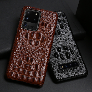 Leather Phone Case For Samsung Galaxy S20 Ultra S7 S8 S9 S10 Lite S10e Note 8 9 10 20 Plus A20 A50 A70 A51 A71 A8 Crocodile Head