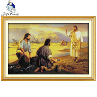 Joy Sunday Jesus Christ Chanting Design Printed & Unprinted Cross Stitch Kits DMC fabric counted hand Embroidery Sets Home decor