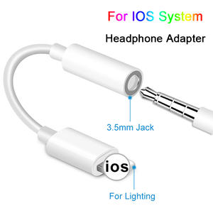 Cables Converter Adapter Headphone-Jack-Cable Audio iPhone Aux for IOS 12-11/10-9/8-on