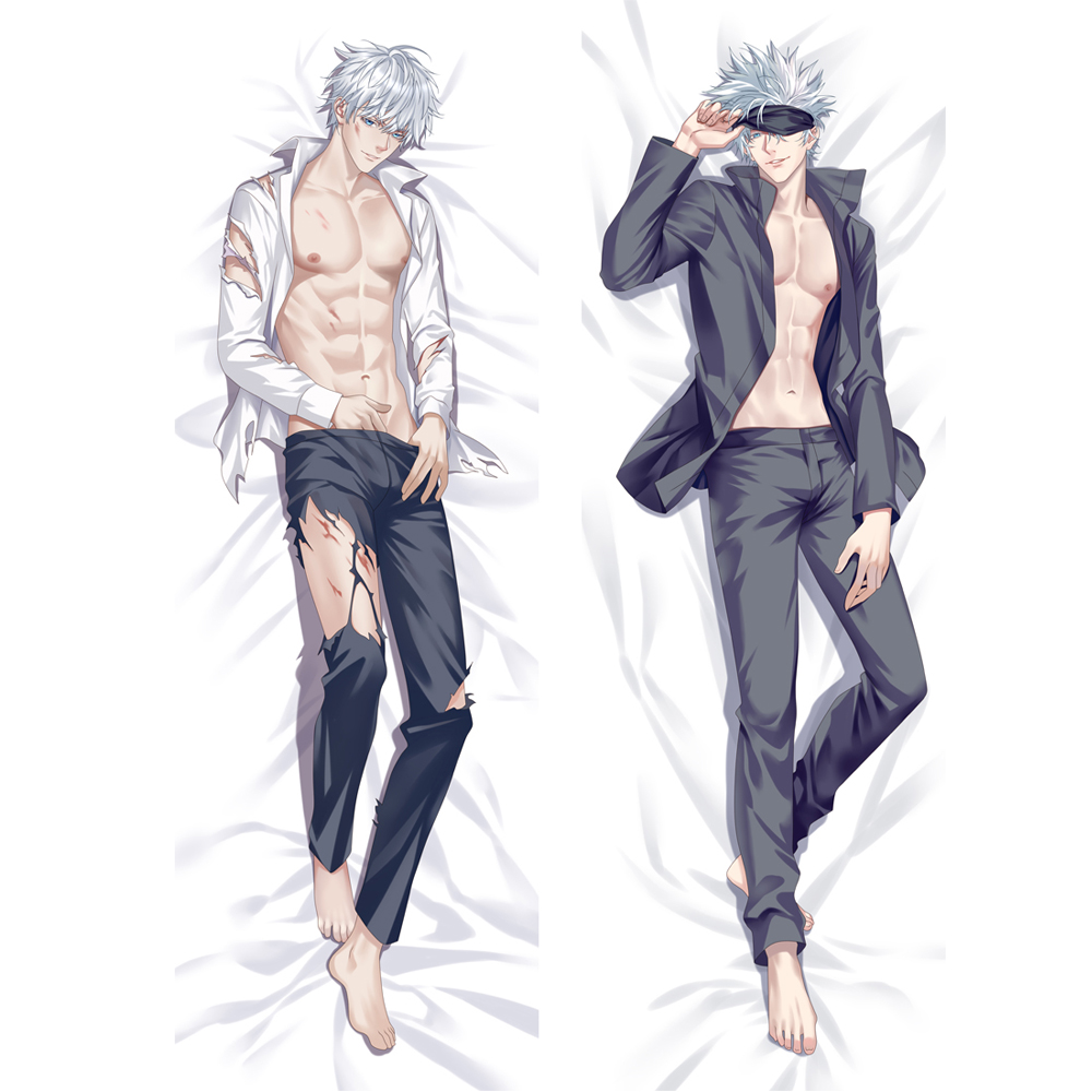 Anime Jujutsu Kaisen Gojo Satoru Dakimakura Hugging Body Pillow Case DIY Custom Throw Cushion Pillow Cover 6 Sizes