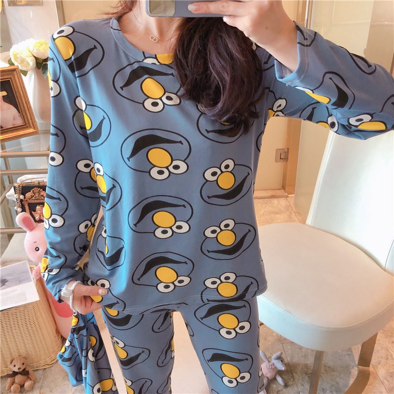 Hot Selling Cloth Bag Pajamas Three-piece Set Cartoon Multi-Style Peach Strawberry Women's Qmilch Loose-Fit Home Wear