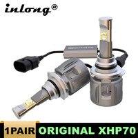 2Pcs 100% Original Xhp70 Mini H4 LED H7 15600LM D4S H1 H8 H11 9005 D3S 9006 HB4 D1S Car Headlight Bulbs 6000K Fog Lights 12V