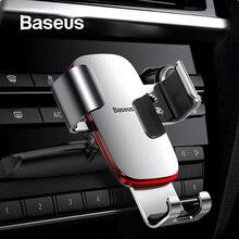Автомобильный держатель для телефона Baseus Gravity для автомобиля, CD слот, держатель для телефона на вентиляционное отверстие, подставка для iPhone X, samsung, металлический держатель для мобильного телефона