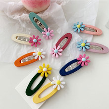 Cute Daisy Flower BB Clip Barrette Hairpin Hair Side Accessories Children Girl Women Headwear
