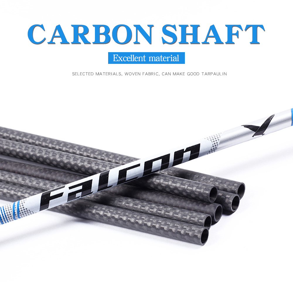 Professional Carbon Arrow Shaft 31inch 250 Spine Archery Accessories Hunting for 50-75lbs Compound/Recurve Bow Outdoor Shooting