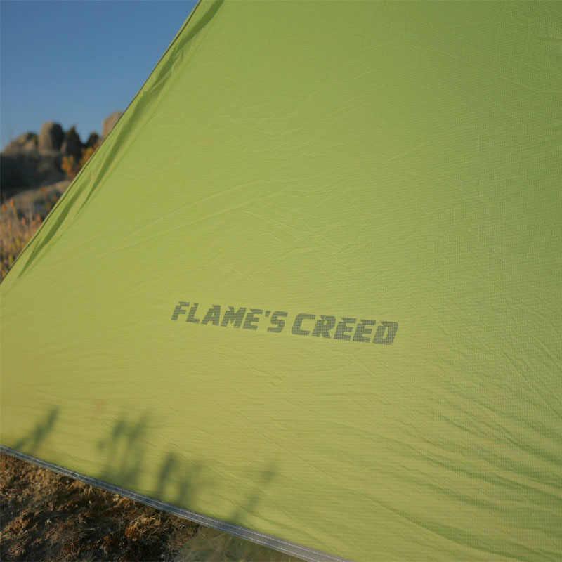 FLAME'S CREED UL biegów 3 sezon 1 osoba namioty ultralight trekkingowy namiot kempingowy na świeżym powietrzu 15D Nylon sztoku