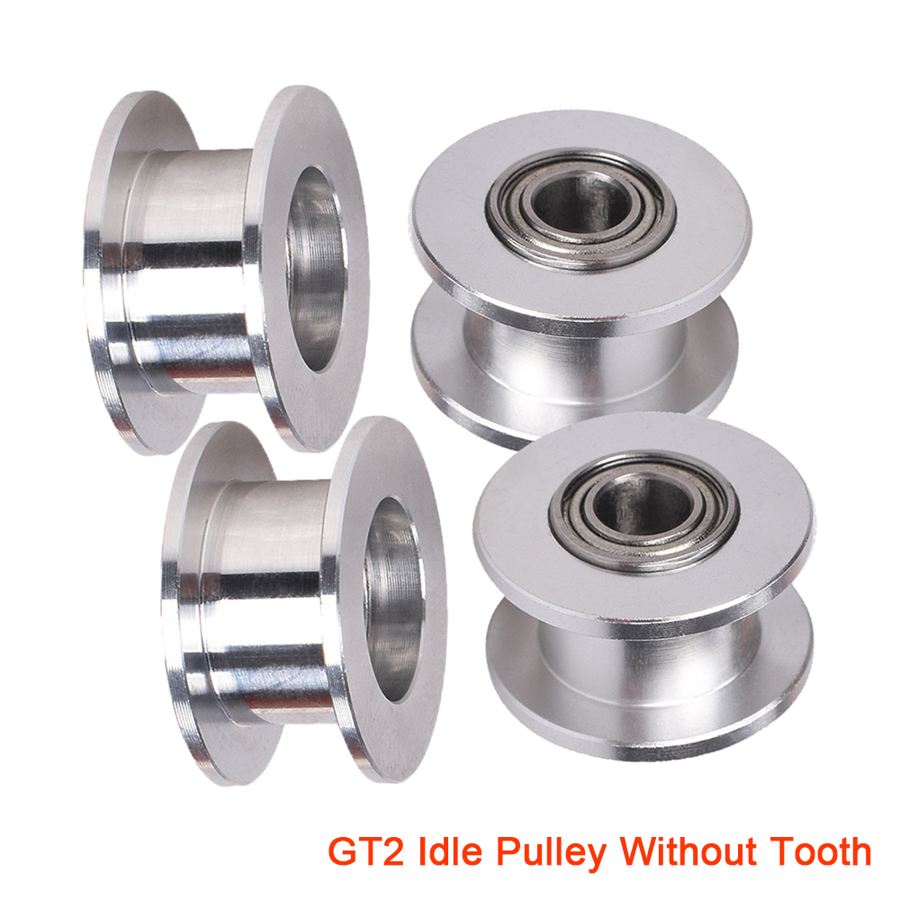 Pack-of-6 GT2 Idler Timing Belt Pulley Synchronous Gear Aluminium Wheel for 3D Printer Toothless 3mm Bore 13mm OD 6mm Width